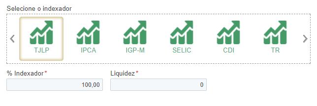 Indexador financiamento